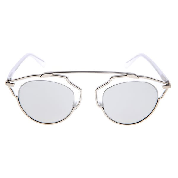 0e9b8a842f85 Shop Dior Dior SoReal RMR_LR Matte Silver Metal Aviator Silver Mirror Lens  Sunglasses - Free Shipping Today - Overstock - 12078229