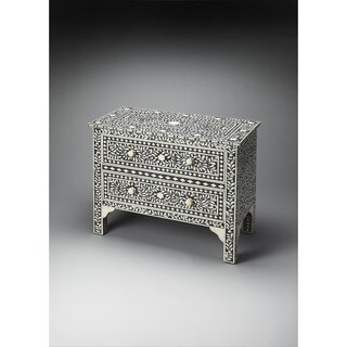 Handmade Butler Bone Inlay Chest (India)
