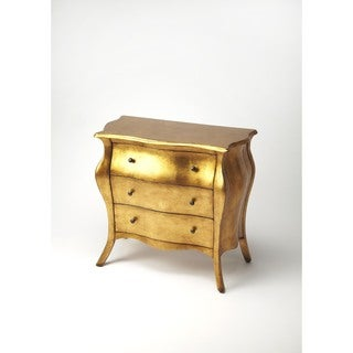 Butler Francine Gold Leaf Bombe Chest