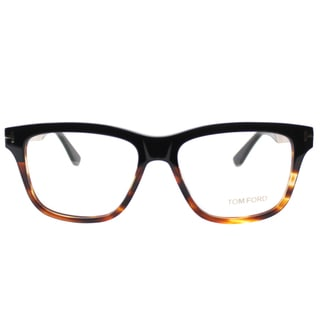 Tom Ford FT 5372 005 Black/Gold Tortiseshell Plastic Square Eyeglasses