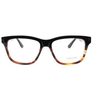 Tom Ford FT 5372 005 Black/Gold Tortiseshell Plastic Square Eyeglasses