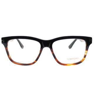 597b1d0206a Tom Ford FT 5372 005 Black Gold Tortiseshell Plastic Square Eyeglasses