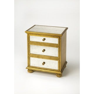 Handmade Butler Grable Gold Leaf Accent Chest (China)
