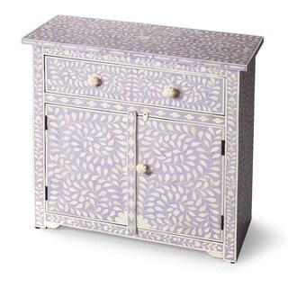Handmade Butler Vivienne Lavender Bone Inlay Console Chest (India)
