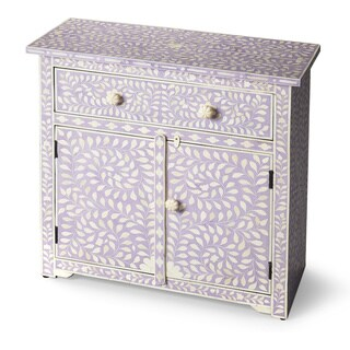 Handmade Butler Vivienne Lavender Bone Inlay Console Chest (India)