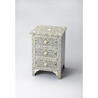 Butler Vivienne Gray Bone Inlay Accent Chest