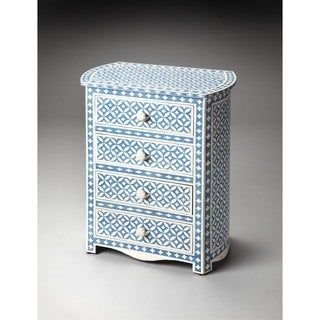 Butler Amelia Blue Bone Inlay Accent Chest