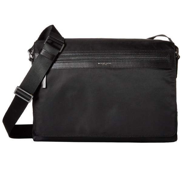 9286780a9fd8 Shop Michael Kors Kent Black Nylon Large Crossbody Messenger Bag ...