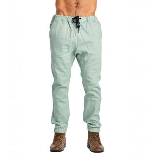 Dirty Robbers Moss Design Men's Green Cotton Drawstring Joggers
