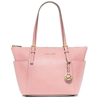Michael Kors Jet Set Blossom Saffiano Leather East/West Top Zip Tote Bag