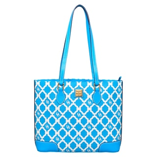 Dooney and Bourke Sanibel Richmond Turquoise Shopper Tote Bag