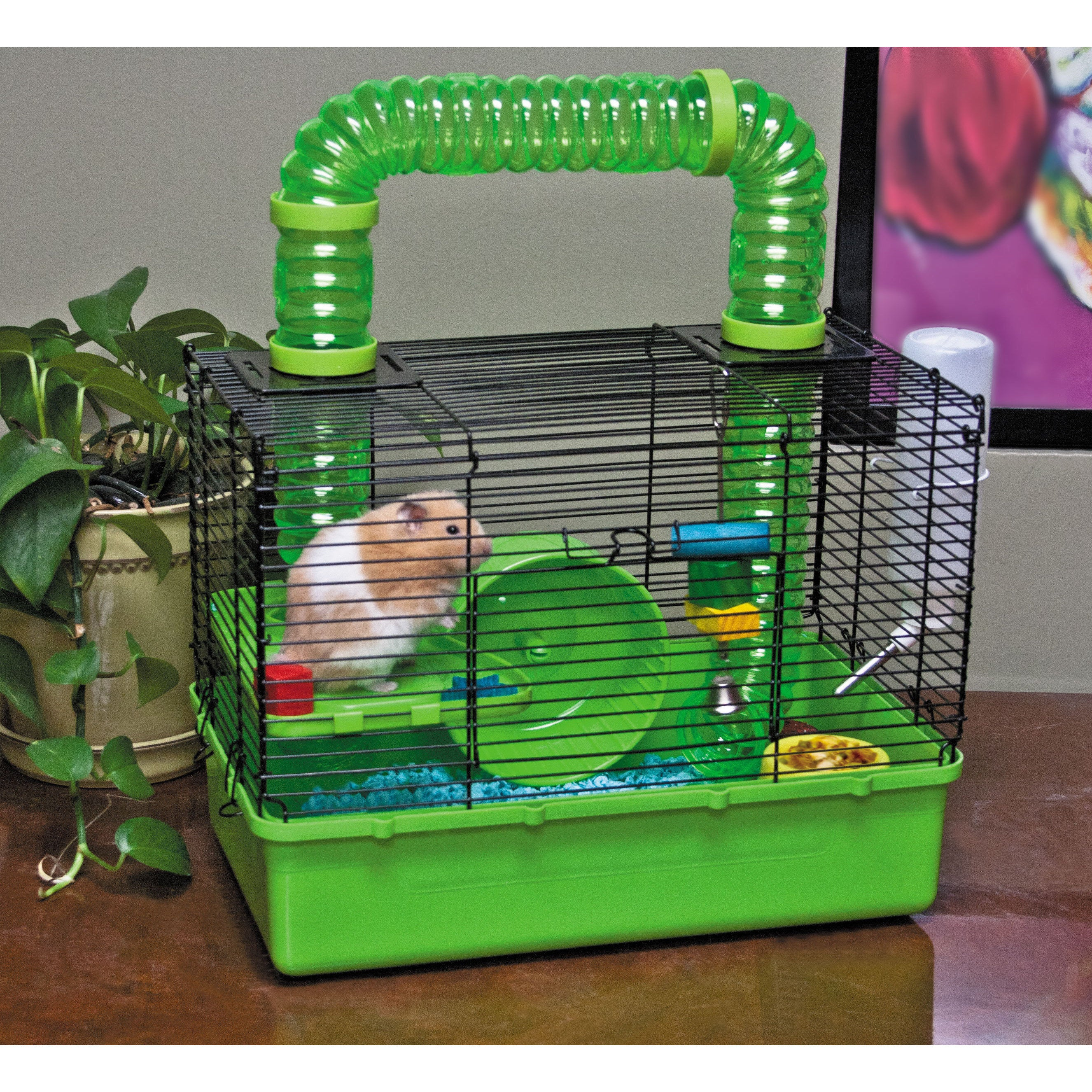 Ware Tube Time Green Wire 15-inch 2-level Hamster Cage (15')