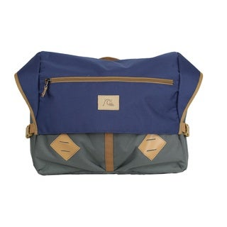 Quiksilver Rusted Wheel Navy Blazer Laptop Messenger Bag