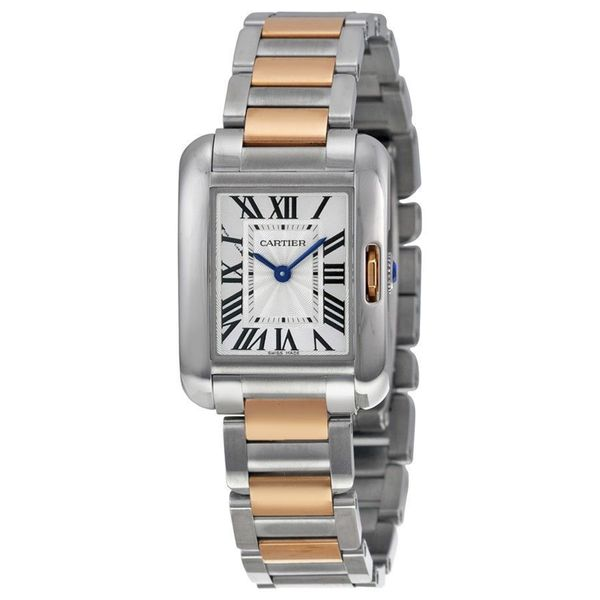 Cartier Unisex W5310043 'Tank Anglaise' 18kt pink gold Two-Tone Stainless Steel Watch. Opens flyout.