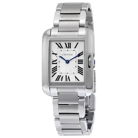 Cartier Unisex W5310044 'Tank Anglaise' Stainless Steel Watch