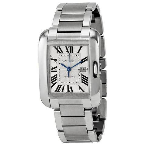 Cartier Unisex W5310009 'Tank Anglaise' Stainless Steel Watch