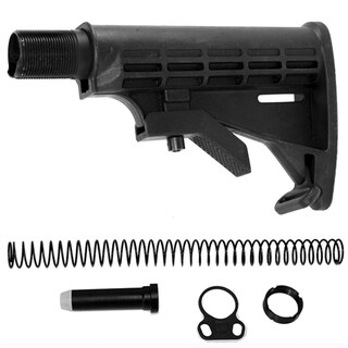 Blakc RIfle Complete Six Position Commercial Butt Stock Kit