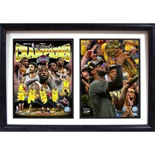 2016 NBA Champions Cleveland Cavaliers 12-inch x 18-inch Double Frame Print