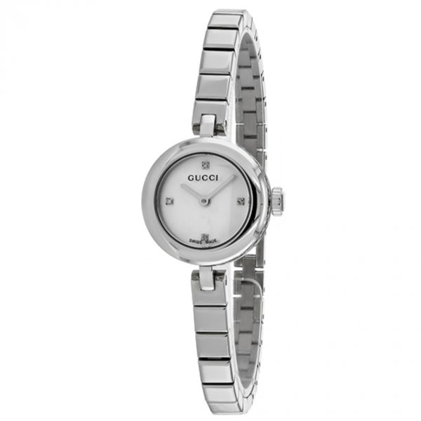 7e41ac4ef76 Shop Gucci Women s  Diamatissima  Diamond Stainless Steel Watch - STAINLESS  STEEL - Free Shipping Today - Overstock.com - 12078634