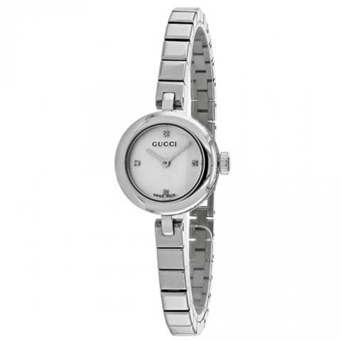 Gucci Women's 'Diamatissima' Diamond Stainless Steel Watch - STAINLESS STEEL