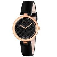 862482dec26 Shop Gucci YA132407 Women s Bamboo Black Quartz Watch - Free ...