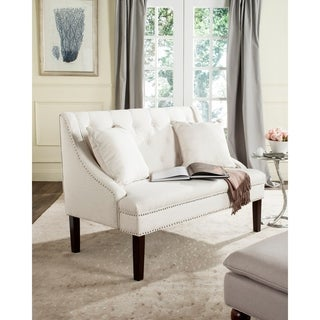 Safavieh Zoey Light Beige Linen Settee