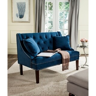 "Link to Safavieh Zoey Modern Loveseat Settee - 49"" x 28"" x 36"" Similar Items in Living Room Furniture"
