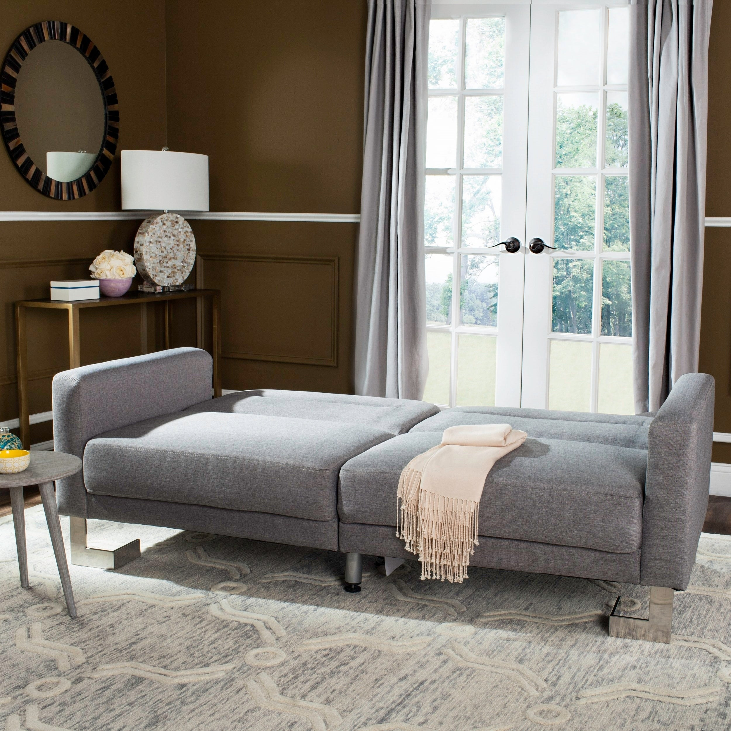 Safavieh Tribeca Two-in-One Modern Foldable Grey Loveseat...