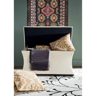 Safavieh Aroura White Storage Bench
