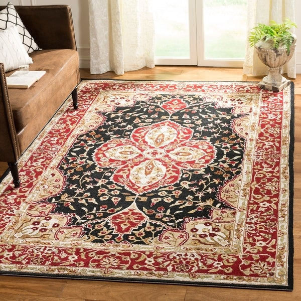 Safavieh Hand-hooked Easy to Care Black/ Rust Rug - 8' x 10'