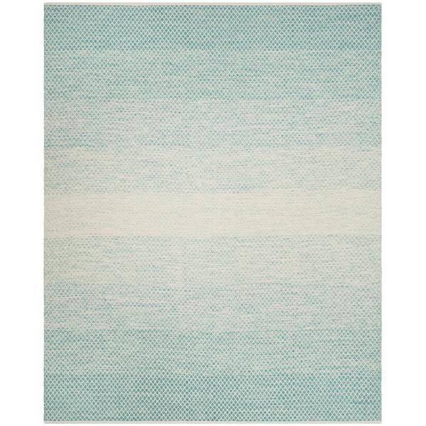 Turquoise Area Rug 8x10: Shop Safavieh Hand-Woven Montauk Turquoise/ Ivory Cotton