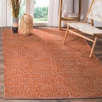 Safavieh Hand-Woven Montauk Orange/ Multi Cotton Rug - Orange/Multi - 8' x 10'
