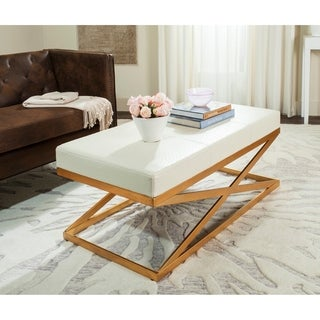 Safavieh Alexes Creme / Gold Bench