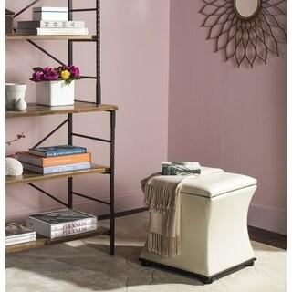 safavieh maddox white storage ottoman