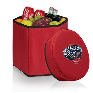 Picnic Time Bongo Cooler New Orleans Pelicans Print Red