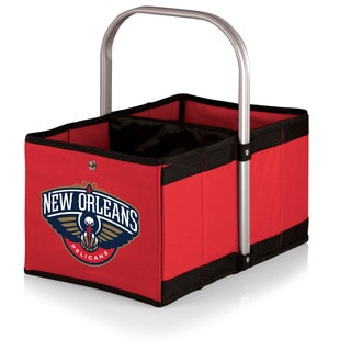 Picnic Time Urban Basket New Orleans Pelicans Print Red