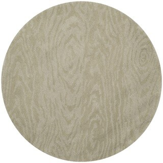 Martha Stewart by Safavieh Layered Faux Bois Potter's Clay Wool Rug (4' Round)