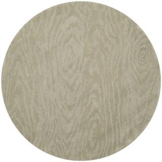 Martha Stewart by Safavieh Layered Faux Bois Potter's Clay Wool Rug (8' Round)