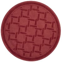 Martha Stewart by Safavieh Resort Weave Sealing Wax Wool Rug - 4' Round