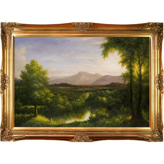 Thomas Cole 'View on the Catskill--Early Autumn, 1837' Hand Painted Framed Canvas Art