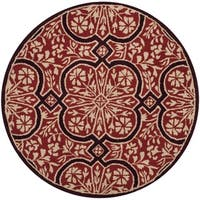 Martha Stewart by Safavieh French Painted Avignon Vermillion Wool Rug - 8' Round