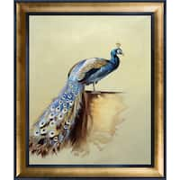 Archibald Thorburn 'Peacock' Hand Painted Framed Canvas Art