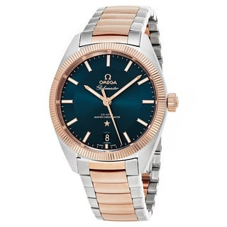 Omega Men's 130.203.92.103.001 'Globe master' Blue Dial Stainless Steel/18k Sedna Gold Swiss Automatic Watch