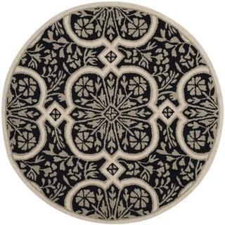 Safavieh Handmade Martha Stewart Collection Francesca Black Wool Rug (8' Round)