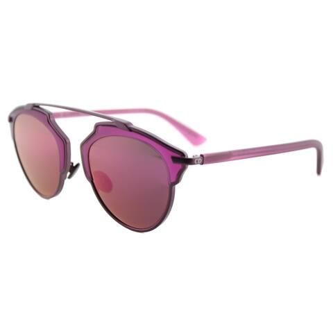 ca48c90193 Dior Dior SoReal RMT LZ Matte Violet Metal Violet Mirror Lens Aviator  Sunglasses