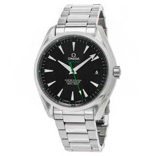 Omega Men's 231.10.42.21.01.004 'Seamaster 150' Black Dial Stainless Steel Swiss Automatic Watch