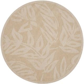 Martha Stewart by Safavieh Breeze Buckwheat Flour Wool Rug (8' Round)