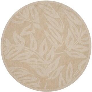 Martha Stewart by Safavieh Breeze Buckwheat Flour Wool Rug (8' Round) - 8'