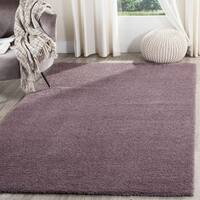 Safavieh Velvet Shag Violet Polyester Rug (6' 7 Square)