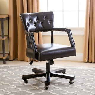 Abbyson Quincy Dark Brown Office Chair